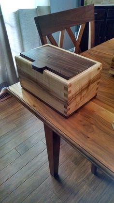 Walnut and Maple box