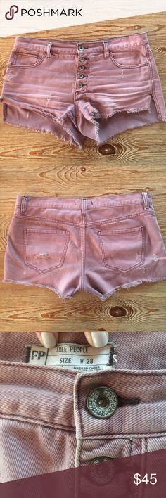 Free People Cut off shorts Rose colored free people cut off shorts Free People Shorts Jean Shorts