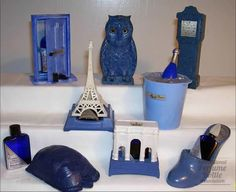 Evening in Paris Perfume Bottles changed for the Seasons, and the Years.the Scent remained the same.& the Cobalt Colored Glass was a Give away that it was Evening in Paris. Paris Perfume, Blue Perfume, Antique Perfume Bottles, Vintage Perfume Bottles, Bourjois Evening In Paris, Bourjois Perfume, Replica Perfume, Lalique Perfume Bottle, France Eiffel Tower