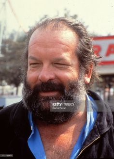 The italian actor Bud Spencer in Madrid, 1983. Madrid, Spain.