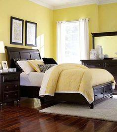 Broyhill Furniture - Farnsworth Queen Storage Sleigh Bed in Inky Black Stain - 4856-Q-Storage