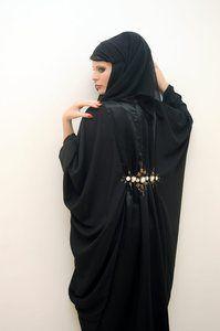 Perla abaya. Stunning. One of the few mostly black Abayas I could see myself wearing.
