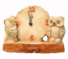 #orologio da #tavolo artistico in #ceramica