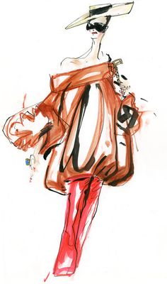80's fashion illustration Christian Lacroix  by Robert Wagt #robertwagt