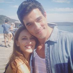 Georgie Parker aka (Roo Stewart) and James Stewart aka (Justin Morgan ) Home And Away Cast, Best Tv Shows, Couple Photos, Selfies, Summer, Bts, Awesome, Couple Shots, Summer Time