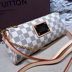 Louis Vuitton N55214 Eva Clutch Damier Azur Canvas  LouisVuittonpurses b2b32caccecfd