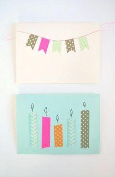 Birthday cards and party invites with washi tape. Great way to decorate envelopes for any occasion. Diy Washi Tape Birthday Cards, Washi Tape Cards, Washi Tape Diy, Masking Tape, Diy Birthday, Happy Birthday, Love Cards, Diy Cards, Decorated Envelopes