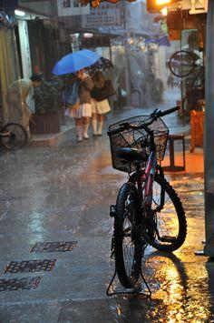 Rain in Lamma Island, Hong Kong