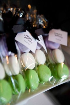 French Macaron Favours - versatile depending wedding color themes