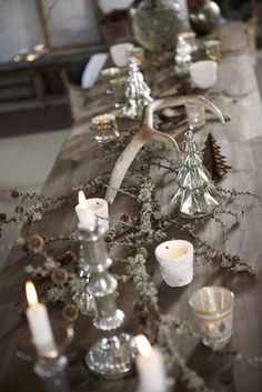 Diy Christmas Table Wreath Ideas With Nature Inspired Ornamental cabbage appears awesome also. You may have to turn each pumpkin around to observe where it sits level in addition to the pumpkin under it. Diy Halloween Decorations, Christmas Decorations, Table Decorations, Holiday Decor, Charlie Brown Tree, Twig Wreath, Woodland Christmas, Country Christmas, Christmas Table Settings
