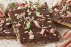 Chocolate Graham Breakaways - This uses candy canes (peppermint) but I'd prefer using toffee bits or candy bar peices