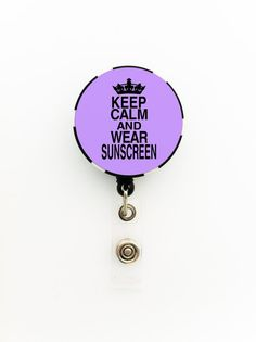 Keep Calm and Wear Sunscreen Dermatology / by TrendyArtz on Etsy, $7.75
