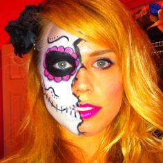 Sugar skull! Can't wait for Brooke Lafon to sugar skull my face!!