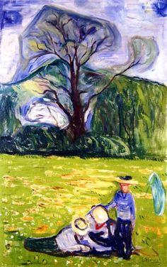 Spring in Dr. Linde's Garden Edvard Munch - 1903