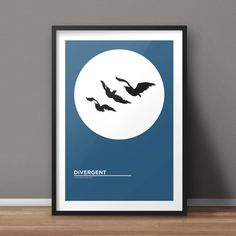 Divergent Poster, Book Poster, Movie Poster, Minimalist Poster, Flat Poster Design, Clean Poster Design, Digital Poster