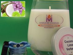 Coconut Lime Verbena Scented Marquee Candle