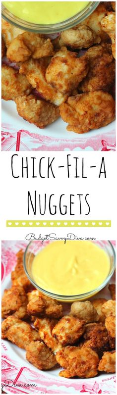 Copy Cat Chick Fil A Nuggets from Budget Savvy Diva and other great family friendly dinner recipes!