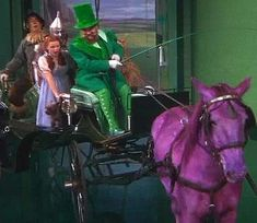 Movie Magic! The Horse of a Different Color, The Wizard of Oz: They covered 4 different white horses in different flavors of jell-o!