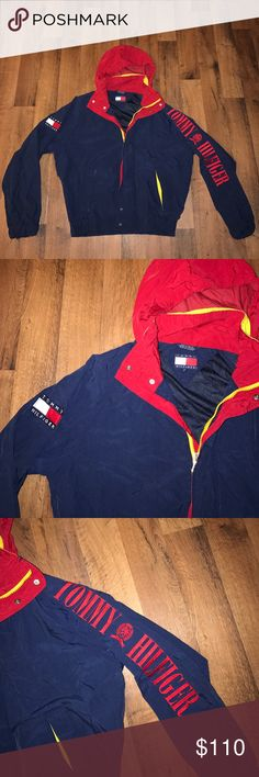 Vintage Medium Tommy Hilfiger Spell Out Jacket Excellent condition Tommy Hilfiger Jackets & Coats Windbreakers