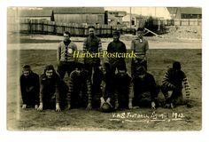Very Rare Victor, Colorado RPPC. 1913 Football Team. African American Player.