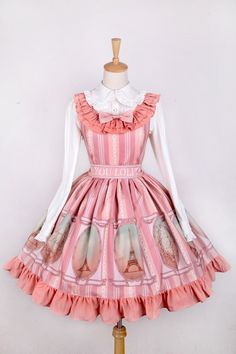 --Newly Added: Sweet Iron Tower Prints Pink Lolita JSK --Size: S, M and L --Learn more >>> http://www.my-lolita-dress.com/sweet-iron-tower-prints-pink-lolita-jumper-dress-ay-4