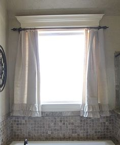 Canvas drop cloth curtain!