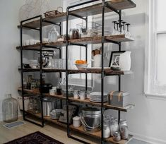 Easy Industrial Shelving Designs That You Can Do Industrial kitchen shelving units stainless steel Kitchen Shelving Units, Kitchen Shelf Design, Industrial Shelving Units, Industrial Kitchen Design, Industrial Design Furniture, Vintage Industrial Furniture, Industrial House, Industrial Bathroom, Industrial Decorating