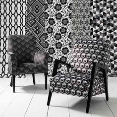 Warwick Fabrics : DELLA MONOCHROME COLLn HGR