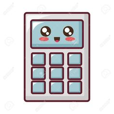 Calculator, Google, Illustration, Cute, Image, Kawaii, Illustrations