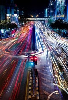 Time lapse of busy streets