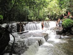 Soaking in Cool Water of Tranh Stream in Phu Quoc