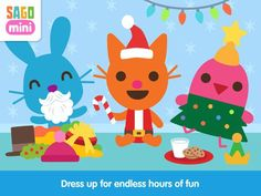 IT'S DRESS UP TIME! Get ready for hours of super cute dress up fun! Play with babies Jack, Jinja, Harvey and Robin in the most adorable dress up app for toddlers. Use your imagination to assemble outfits for each character. #SagoMini #DressUpTime #ImaginationTime #ChristmasApps #SmartAppsForKids #Youtube