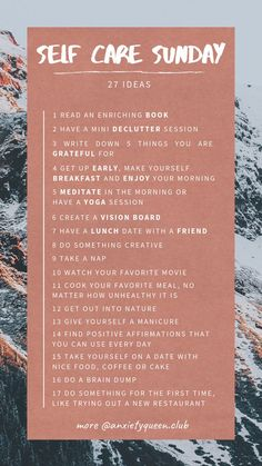 27 Self Care Ideas for Self Care Sunday ? - New Ideas # . - 27 Self Care Ideas for Self Care Sunday ? – New ideas - Self Care Activities, Self Improvement Tips, Care Quotes, Self Care Routine, Healthy Mind, Being Healthy, Best Self, Self Development, Personal Development