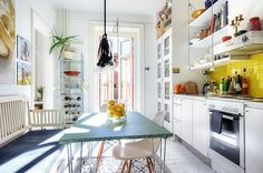 an eat-in kitchen in stockholm | via my scandinavian home