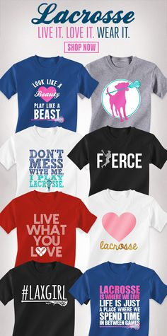 Girls Lacrosse Tees! The best lax tees for all lax girls #lacrosse
