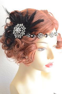 With all the Gatsby crazy, its hard keeping up with my One of a kIND headpieces they sale quickly. Just added this one.