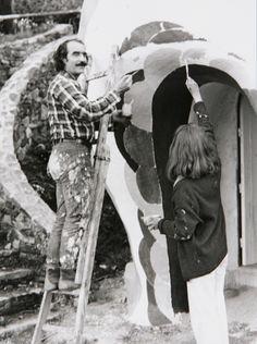 Jean Tinguely and Niki de Saint Phalle, late 1970s