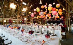 barn wedding decorations | rusticweddingchic.com