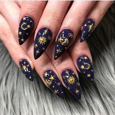 Pin on Nails Cute Nail Art, Cute Acrylic Nails, Cute Nails, Pretty Nails, Gel Nails, Nail Art Designs, Acrylic Nail Designs, Nails Design, Star Nail Art