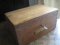 Pine Wood イギリス英国アンティークオールドパインウッドボックスキー付 インテリア 雑貨 家具 Antique ¥16900yen 〆08月12日