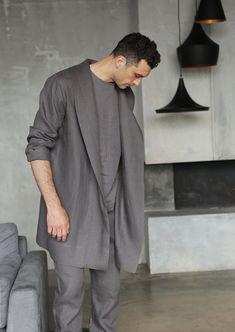 513ccfa04 Linen jacket for man Summer robe Summer jacket Linen bathrobe Cardigan for  men Linen cardigan Comfortable jacket Linen coat Gift for him
