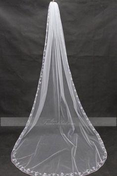 Tüll dreischichtige charmante Kapellen Brautschleier mit Kamm 3*1.2m