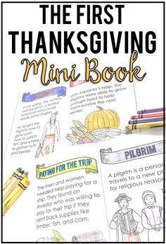 The First Thanksgiving Mini Book Reader