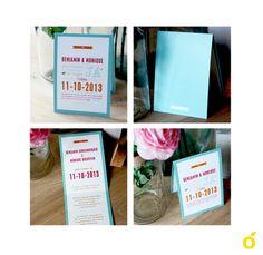 Graphic design #Wedding card retro style! - Grafisch ontwerp trouwkaartje in retro stijl!