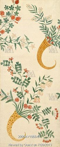 Silk design, by Anna Maria Garthwaite. Spitalfields, London, England, 18th century