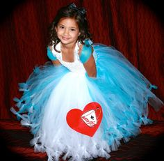 Alice in Wonderland Costume Tutu Dress by TootieFruityTutuShop, $65.00