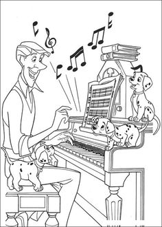 Music Coloring Pages | 101-dalmatians-listen-music-coloring-pages-7-com.jpg ✖️Fosterginger.Pinterest.Com✖️No Pin Limits✖️More Pins Like This One At FOSTERGINGER @ Pinterest