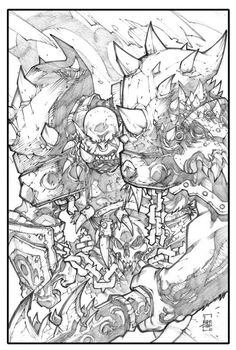 llustration for Leaders of azeroth. See the color version on the page of the great Tony Washington