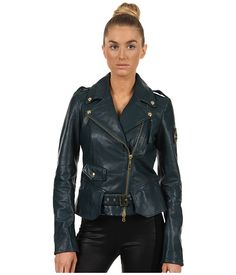 Just Cavalli Leather Moto Jacket. Somebody find me a knockoff of this!