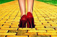 follow the yellow http://pinterest.com/search/?q=yellow+brick+road#brick road